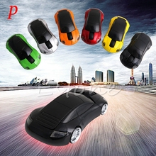 P 2.4GHZ 1600DPI Wireless Mouse USB Receiver Light LED Super Porsche Car Shape Optical Mice Battery Powered(not included)