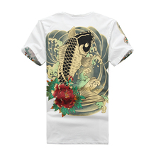 2017 Rushed Summer Japan T Shirt Men Carp 3d Print Short Sleeve O-neck Cotton Brand Clothing Tshirts For Camiseta Masculina