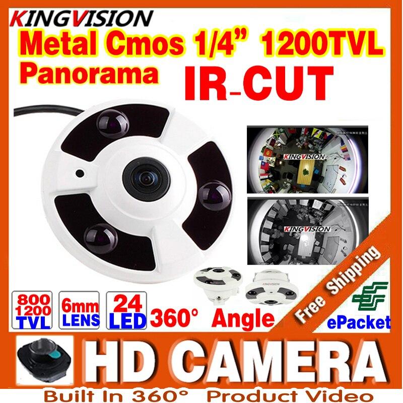 2017New Panorama 360 CCTV Analog CAMER 1/3cmos 800/1200TVL Degree Fisheye Lens 1.55MM IR Night Vision Distance 20M Order Video<br>