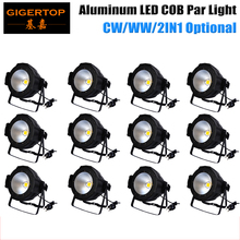 Freeshipping 12PCS Led Par Light COB 100W Integrated Uniform Led Floor Stage Panel Light High Power Warm Yellow Party Disco Cans