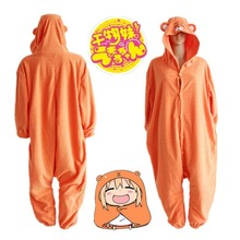 Japanese Anime Cosplay Himouto! Umaru-chan Doma Umaru Cosplay Costume Indoor Mode Orange Hamster Hoodie Jumpsuit  Anime Pajamas
