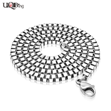 Fashion Men's Jewelry Necklaces High Quality Handmade Spolishing Stainless Steel Punk Men Box Chain Necklaces Never Fade