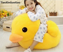 stuffed toy lovely yellow duck plush toy large 100 cm duck doll soft throw pillow toy birthday gift b0674