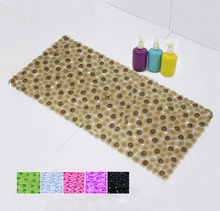 35 * 75cm PVC Bath Mat Thick Pebble Massage Bath Mats Thick Bath Mats With Suction Cups 2016 New