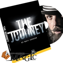 Free shipping! The Journey (DVD and Gimmick) by Matt Johnson close up Street mentalism Classic card magic tricks(China)