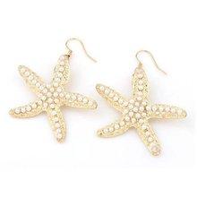 Popular Sea Star Earrings For Women Summer Style Shining Pearl Dangle Earring Trendy Statement Fashion Jewelry
