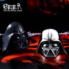 Beier Star Wars Darth Vader mask shape ring Jewelry High Quality 316L STAINLESS Steel LLBR8-202R US size(China)