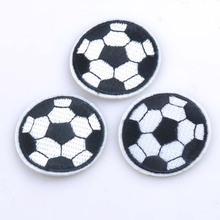 5pcs Patch DIY Football Embroidered Patches Fabric Badges Iron-On Sewing For Bags Patches Clothes Hat Decorative Ornament CP0890(China)