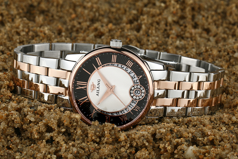 Authentic Ai waves watch ladies real trendy fashion watch waterproof Korean version of the automatic mechanical watch female for