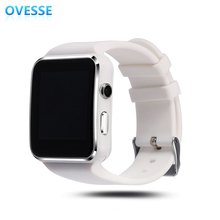 2017 Sport Android Smartwatch Sim card Mobile Watch Phones Round Wrist Bluetooth Smart Watch Cheap Price(China)