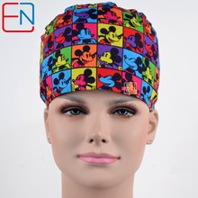 unisex surgical hats 100% cotton 3 sizes for choice ,with sweatband medical caps(China)