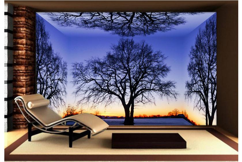 3D wallpaper custom mural 2015 new Only beautiful adornment stereo dawn scenery beauty non-woven wall paper room decoration(China (Mainland))