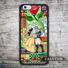 Beauty And The Beast Case For iPhone 7 6 6s Plus 5 5s SE 5c and For iPod 5 High Quality Lovely Stained Glass Phone Cases
