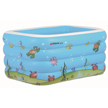 High Quality Children's Family Paddling Pool Large Size Inflatable Square Swimming Pool Printed Rectangular Kids Paddling Pool(China)
