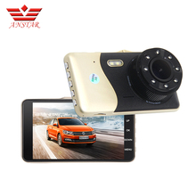 ANSTAR 4 Inch IPS Dual Lens Front 1080P Back 720P Car DVR With Night Vision Dash Cams Video Recording Car Camera(China)