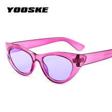 YOOSKE 90 s Óculos De Sol Das Mulheres Da Marca Grife Óculos de Sol Olho de  Gato De Luxo senhoras Retro Pequeno Cateye Óculos De. 8ba571a0b0