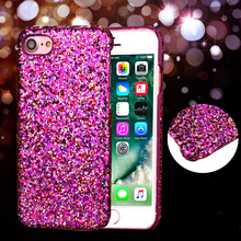 For iPhone 7 Plus 6 6S Plus 5 5S SE Glitter Sequins Bling Crystal Shockproof Case Cover For Samsung Galaxy S6 Edge S7 Edge