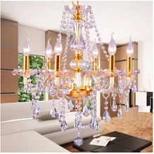 European crystal chandelier modern LED crystal lamp living room lamp bedroom lamp lighting decorative lights restaurant(China)