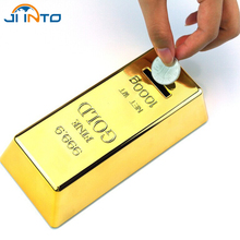 New Novelty Fun Gold Brick Money Box Piggy Coin Bank Child Gift High Quality Storage Tank