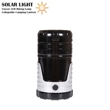 Portable Outdoor Camping Lantern LED Solar Light Rechargeable Tent Lights Collapsible Flashlight Lamp for Hiking / Night Trip(China)
