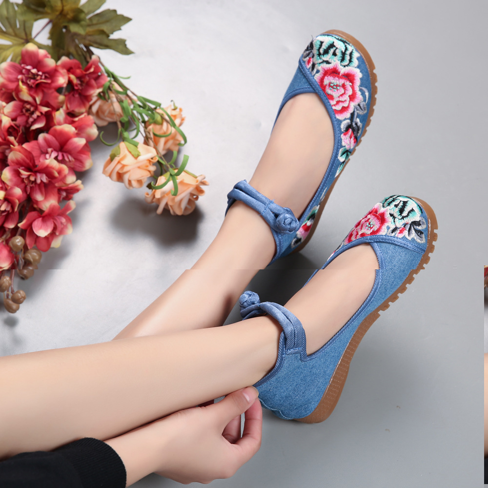 Fashion Women Shoes Old Beijing Mary Jane Flats Casual Shoes Chinese Style Embroidered Cloth shoes woman oxford shoes for women<br><br>Aliexpress