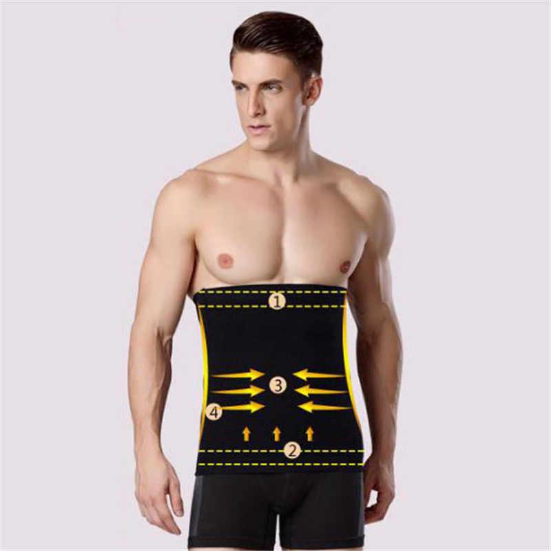 9c071e765a2b9 2018 Men Slimming Belt Shaper Waist Trimmer Belt Corset Beer Belly anti-cellulite  massage Trainer