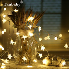 Tanbaby Star led string light 4M 5M 10M AA battery powered house decorative fairy lighting Wedding(Warm White,Multicolor etc.)(China)