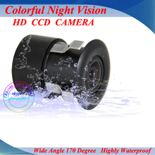 Universal Mini 170 degree Anti Fog Glass Car Auto Rear View Reverse Reversing Backup Parking Park Waterproof CCD Black Camera