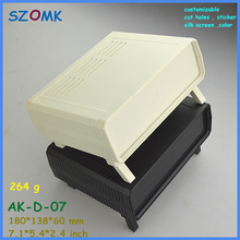 szomk abs project case eletrical instrument enclosure (1pcs) 180*138*60mm outdoor equipment enclosure plastic desk top enclosure(China)