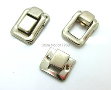 Free Shipping-10 Sets Toggle Catch Suitcase Case Box Trunk Lock Box Silver Tone 3.8cm x 2.7cm 2.7cm x 2.4cm J1815(China)