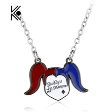 Free Shipping Suicide Squad Harley Quinn Charm Elegant Alloy Pendant Fashion Necklace For Women Christmas Gifts Free Shipping