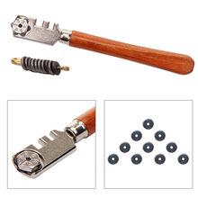 Professional GLASS CUTTER+10 SPARE WHEEL BLADES Glazing Mirror Tile Cutting Tool