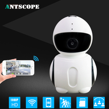 Antscope Robot WIFI Camera IP HD CCTV Home Security Baby Monitor Wireless 1080P 2MP CMOS Onvif Micro SD Card Robotica IP Camera(China)