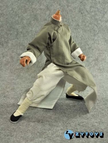 ZYTOYS 1: 6 Scale Bruce Lee Kung Fu Suit Long Gray Costume Clothing Set For 12 Action Figure Toys Accessories<br><br>Aliexpress