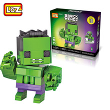 LOZ Single Sale Hulk Marvel Avengers Super Heroes Q Version 16Mini Bricks Building Blocks Toys Children 1406 - LOZs Block Store store