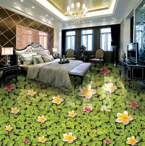 3d photo wallpaper customize Magnolia Green leaves floor wallpaper living room wallpaper 3d floor tiles mural wallpaper<br><br>Aliexpress