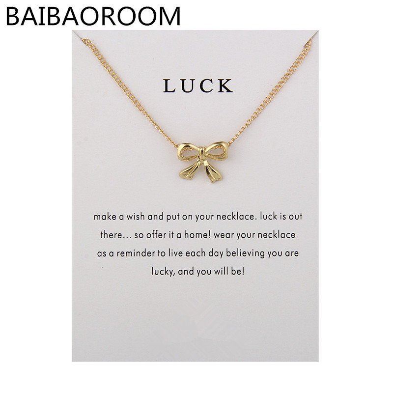 Fashion New Arrived Bowknot Luck Butterfly Short Necklace Jewelry For Women