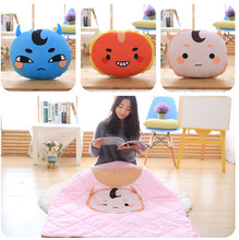 Candice guo! plush toy alone and brilliant ghosts buckwheat red beans cushion air conditioning blanket quilt birthday gift 1pc(China)
