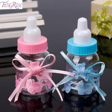 FENGRISE Baby Shower Baptism 12pcs Candy Box Baby Feeding Bottle Birthday Decoration Christening Party Favors Supplies Boy Girl