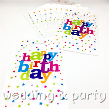 Buy 10PCS/lot print Colored stars gift bag theme happy birthday party decoration candy bag loot bag child favor party supplies for $1.09 in AliExpress store