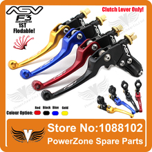 Alloy ASV F3 1ST Long Clutch Folding Lever Only Racing Motorcycle Pit Dirt Bike CRF KXF KTM YZF RMZ Modify Free Shipping
