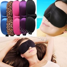 Multi-color 3D Portable Eye Mask Shade Cover Patch Rest Sleep Eyepatch Blindfold Shield Travel Sleeping Mask Aid Free Shipping