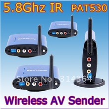 PAT-530 5.8Ghz Wireless Audio+Video AV Transmitter 1xSender + 3xReceiver 200M wireless av sender,Free Shipping,Wholesale