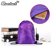 Folding Gym Fitness Drawstring Shoulder Sport Bag Waterproof Zipper Pocket Shopping Backpack Camping Hiking Travel Swimming Bag