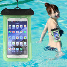 Universal Waterproof Phone Bag Case Cover Mobile Phone Pouch For Apple iPod Touch 6 Underwater Swimming Diving Sealed(China)