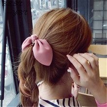 Korea multilayered chiffon bow hair accessories hair rope romantic hair decoration hair acessories for women(China)