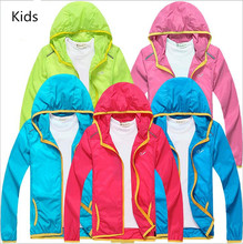 2017 Kids Cycling Windbreaker Boys Girls Jerseys Jackets For Spring Autumn Summer 5 Color Outdoor Travel anti-uv Clothing XS-XXL(China)