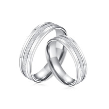H:HYDE Fashion Lead & Nickel Free Silver Ring with Frosting Surface Elegant Couple Rings Lovers wedding rings for men/women