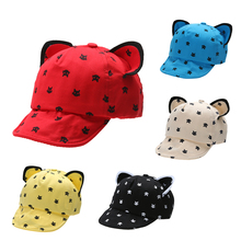 Fashion Baby Hats Ears Beard Stars Animal Cat Cartoon Newborn Cap Kids Baseball Hats Summer Baby Boys Girls Sun Hats Cotton Caps(China)