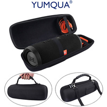 YUMQUA Pouch Bag for JBL Charge 3 Travel Protective Cover Case For JBL Charge3 Bluetooth Speaker Extra Space Plug & Cables Belt(China)